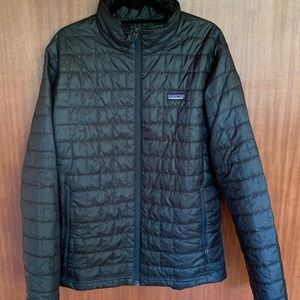 Lightly worn dark green patagonia nano puff
